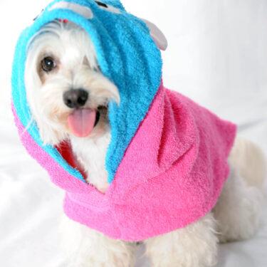 Bade mantil – peškir PANDA pink